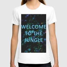 Welcome to the Jungle - Neon Typography T-shirt