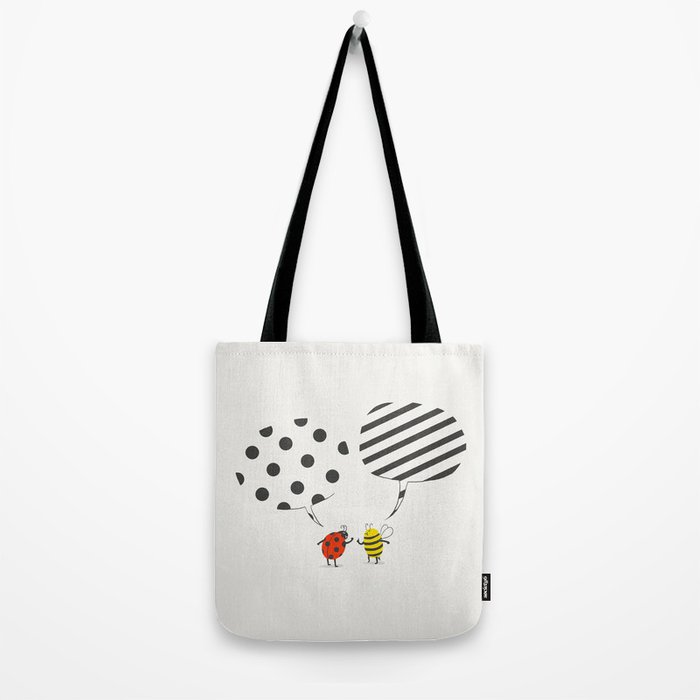 Pattern conflict Tote Bag
