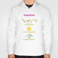 indonesia Hoodies featuring Indonesia by Franciska Windy