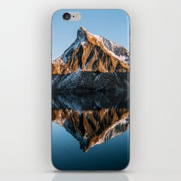 Calm Mountain Lake at Sunset - Landscape Photography iPhone Skin