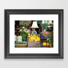 Organic produce Framed Art Print