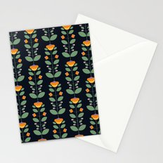 Bud'n Bloom (deep blue) Stationery Cards