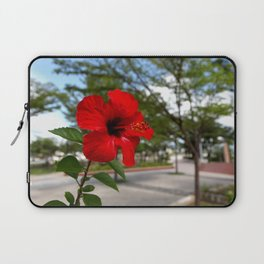 Red Flower Bloom Laptop Sleeve