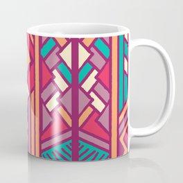 Tribal ethnic geometric pattern 001 Coffee Mug