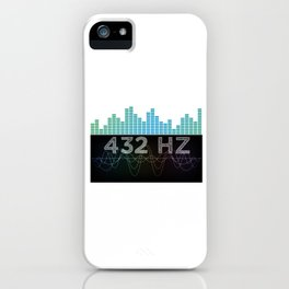 Solfeggio 432 HZ Sound Frequency Spiritual Healing Meditation Musical Note Gift iPhone Case