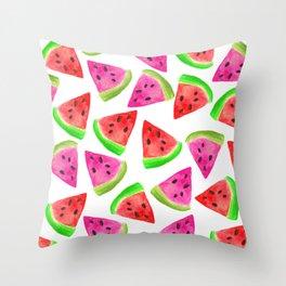 Watermelon Frenzy Throw Pillow
