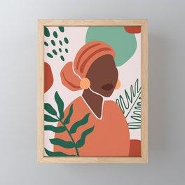 Modern Ethnic, minimal Framed Mini Art Print