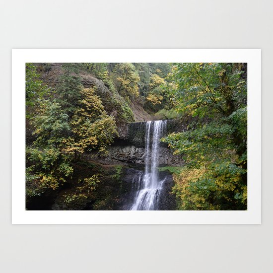 Waterfall in the Fall / Silver Falls State Park, Oregon Art Print