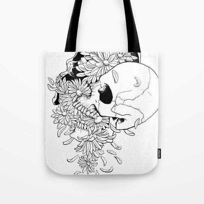 Skull (Pushing Up Daisies) Tote Bag