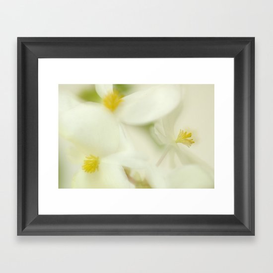the dance of the flowers Framed Art Print