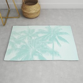 Palm Trees Cyan Kihei Maui Hawaii Rug