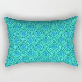 Teal Parasols Pattern Rectangular Pillow