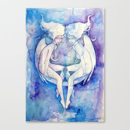 Goddess of Gemini - An Air Element Canvas Print