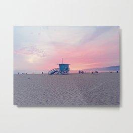 Malibu Sunset Metal Print
