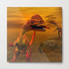 Awesome dilophosaurus Metal Print