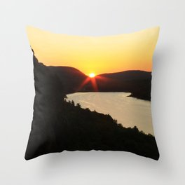 Sunrise over Lake of the Clouds Throw Pillow