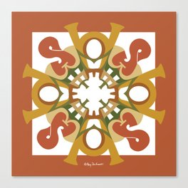 Home Sweet Home Mandala - Fall Colors Canvas Print