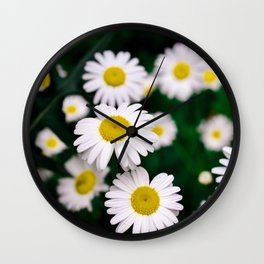 Pushing Up Daisies Wall Clock