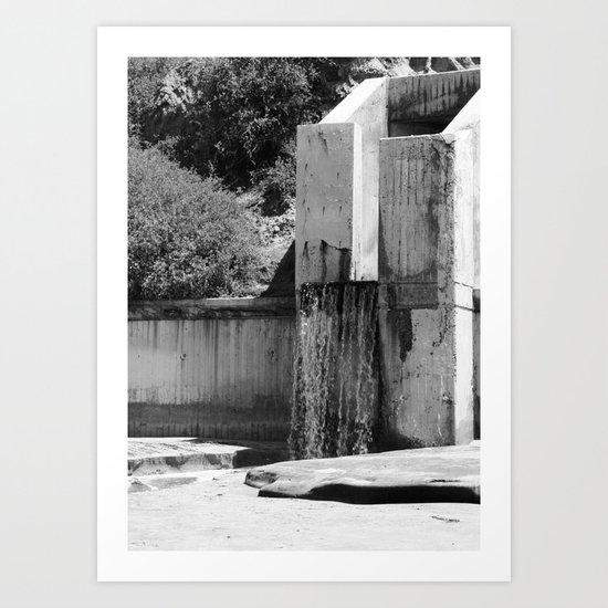 Runoff Waterfall Art Print