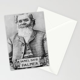 Portrait of Daniel David Palmer, Founder of Chiropractic Stationery Cards