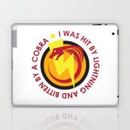I was hit by lightning and bitten by a cobra - quote from Kung Fury Laptop & iPad Skin