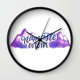 Namaste Outside Wall Clock