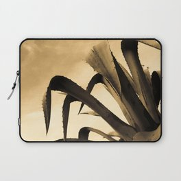 Giant Sepia Aloe Cactus Plant Photograph Art Print Laptop Sleeve