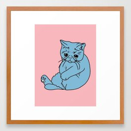 Sad Kitty, 2014. Framed Art Print