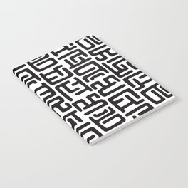Black And White African Abstract Shapes Notebook