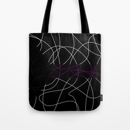 Abstract Threads – Demisexual Pride Flag Tote Bag