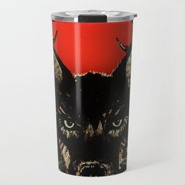 High Priestess Coyote and Scorpions Acrylic Painting Travel Mug