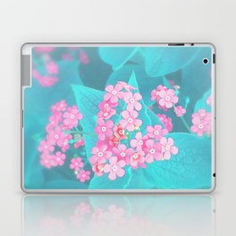 Forget Me Knot - Pink Heart little flowers Laptop & iPad Skin