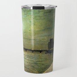 Reflections on the Thames River, London by John Atkinson Grimshaw Travel Mug