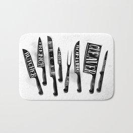 Kitchen knife Bath Mat