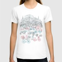 tote T-shirts featuring Old Town Bikes by David Fleck