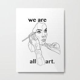 The World of Walking Art (B&W) Metal Print