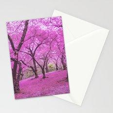 New York City Springtime Cherry Blossoms Stationery Cards