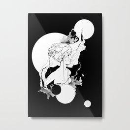 Lefey by carographic, Carolyn Mielke Metal Print