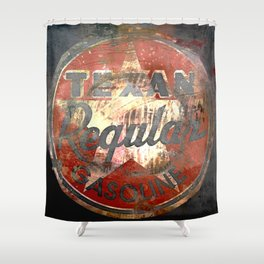 Texan - Vintage Label Shower Curtain