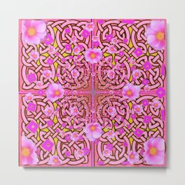 MYSTIC PINK CELTIC ROSE ART Metal Print