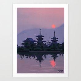 Yakushiji at Sunset Art Print