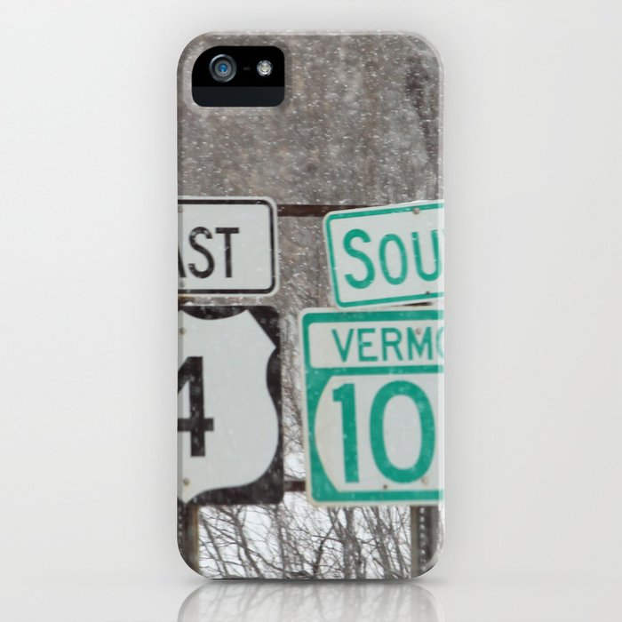 Vermont Street Signs iPhone Case