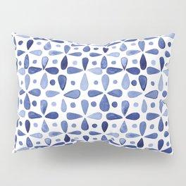 Imperfect Geometry Blue Petal Grid Pillow Sham
