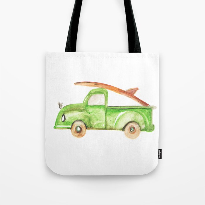 Green Truck Tote Bag