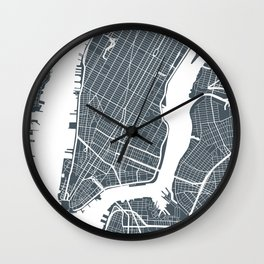 New York City map Wall Clock