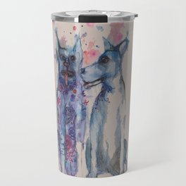 Ink Animals of Africa - Township Dogs Travel Mug