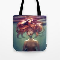 loish Tote Bags featuring Mermaid by loish