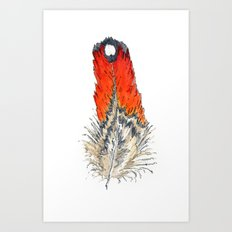 Red Feather - 02 Art Print