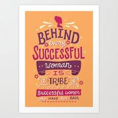Successful women Art Print