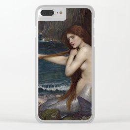 A MERMAID - WATERHOUSE Clear iPhone Case